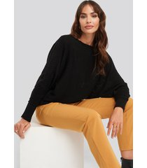 trendyol boat neck sweater - black