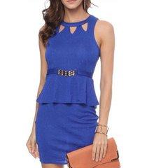 vestido bon marlen azul