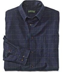 battenkill cotton blend long-sleeved shirt / regular, navy brown, xx large