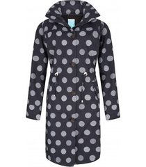 happyrainydays regenjas coat winny globe black off white-l