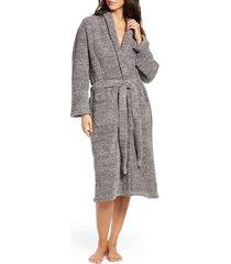 women's barefoot dreams cozychic unisex robe, size 1 - grey