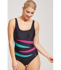 hybrid tropics adjustable scoopback ecolast one-piece swimsuit