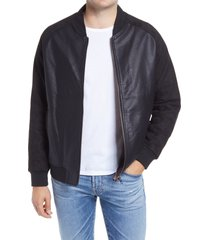 men's blanknyc egoist faux leather jacket, size x-large - black