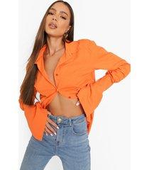 gekleurde baggy blouse met zoom detail, orange