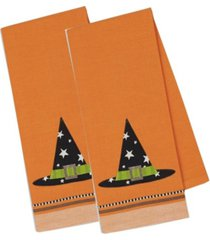 design imports witch hat embellished dishtowel