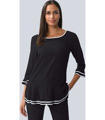 blouse alba moda zwart::wit