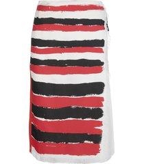 horizontal-stripe skirt