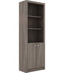 armário alto me 4110 carvalho tecno mobili marrom