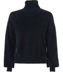 blusa le lis blanc rose i tricot preto feminina (black, gg)