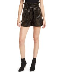 blanknyc faux snakeskin paperbag shorts, size 26 in make the rules at nordstrom