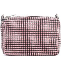 alexander wang heiress medium pouch prism pink rhinestone mesh