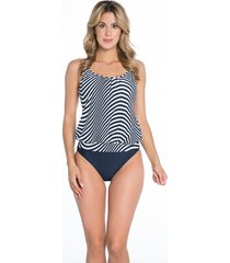 bomain ladies tankini zebra 28021-900