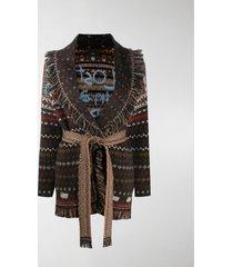 alanui patterned intarsia-knit cardigan