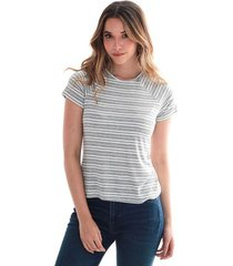camiseta para mujer en poliester color-gris-talla-xs