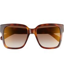 women's givenchy 53mm square sunglasses - light havana/ brown