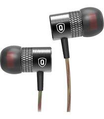 audifono manos libres qkz x3 con microfono hi-fi negro