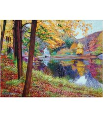 "david lloyd glover fall mirror lake canvas art - 37"" x 49"""
