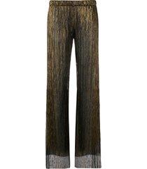 fisico sheer straight-leg trousers - black