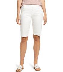 women's liverpool lacie bermuda shorts, size 6 - white