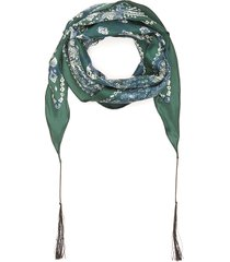 paisley print silk scarf