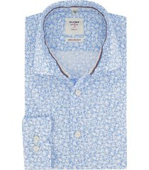 olmyp overhemd blauw dessin level five