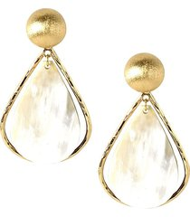 akola women's cleo goldtone & horn statement earrings