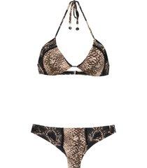 amir slama lace bikini - black