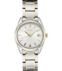 seiko women's essentials two-tone stainless steel bracelet watch 36mm
