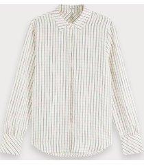 scotch & soda space-dye geruite blouse | regular fit