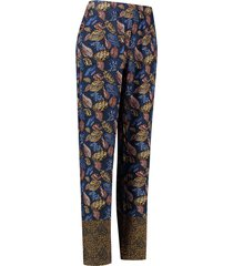 l.o.e.s. 20294 6966 loes cecile leaf pants dblue/shirt blue blauw