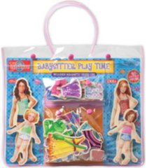 t.s. shure babysitter play time wooden magnetic dress-up dolls