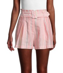 parker women's striped cotton shorts - sunset stripe - size 6