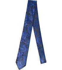 gravata alfaiataria burguesia jacquard 1260 fios azul royal - kanui