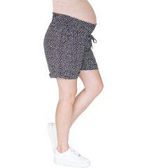 angel maternity drawstring waist maternity shorts, size medium in black at nordstrom