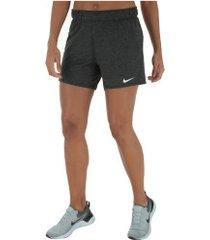 shorts nike attack tr5 - feminino - preto mescla