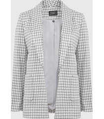 blazer ash gris - calce regular