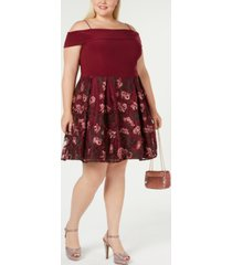 morgan & company trendy plus size off-the-shoulder dress