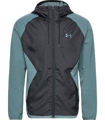 stretch-woven hooded jacket outerwear sport jackets blå under armour