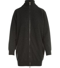 gentry straight zipped high neck l/s sweater