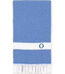 linum home personalized diamond pestemal royal blue beach towel bedding