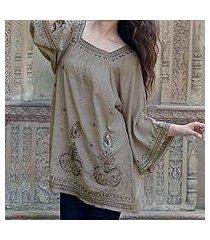 beaded cotton blouse, 'romance' (india)