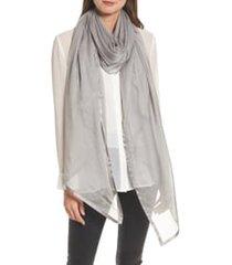 women's nordstrom satin border silk chiffon scarf