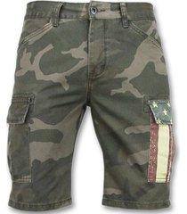 korte broek enos camouflage korte broek - bermuda broeken - 9017 -