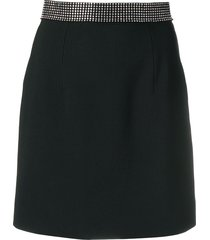 christopher kane crystal-band mini skirt - black