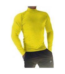 camiseta masculina gola alta manga longa sjons amarelo