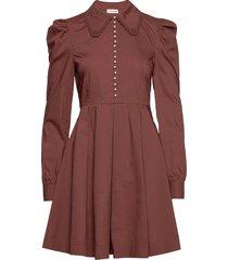 lucy kort klänning brun custommade