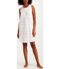 charter club embroidered sleeveless nightgown, created for macys