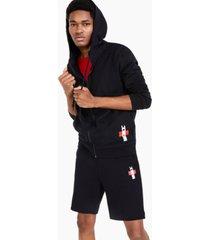 hugo men's durtle logo hooded full-zip sweatshirt