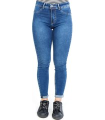 jeans jeggings tiro alto azul cacao