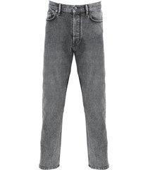 grey stone wash denim jeans